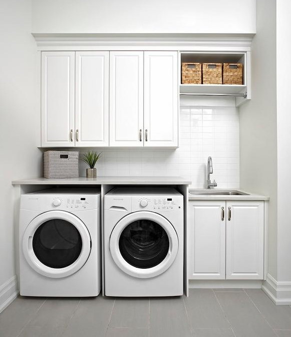 modern laundry renovation